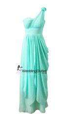 Aqua Greek Style Bridesmaid or Evening Dress Style #C101