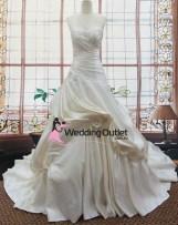Aria ruffle beaded wedding gown