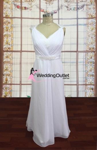 Kaylee Chiffon Skirt Beach Wedding Dress
