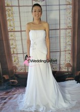 Claire Beach Simple Wedding Dress