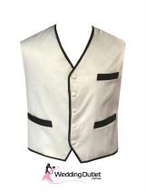 Black and White Men Vest