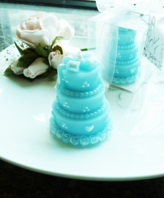 Blue Candle Wedding Favour
