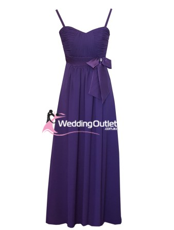 Amethyst Purple Bridesmaid Dress with Bow Style #P101