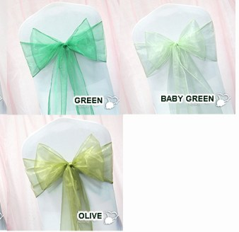Chair Sash Green Olive 10/Pack