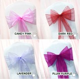 Chair Sashes Purple Blue Red Pink White 10/Pack