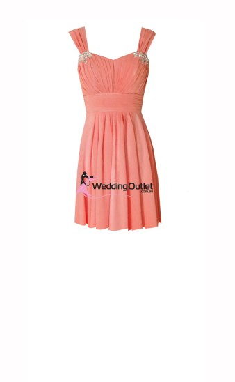 Coral Short Bridesmaid Dresses style #A1029