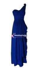 Dark Blue One Shoulder Bridesmaid Dresses Style #C101