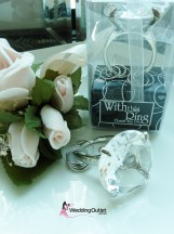 Diamond Ring Napkin Holder and Key ring wedding favour