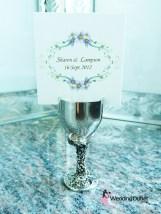 Name card holder goblet wine cup wedding favours