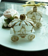 Gold Carriage Candle Wedding Favours