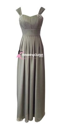 Grey Maxi Bridesmaid Dress Style #A1029