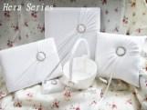 Guest Book, Ring Pillow, Flower basket, Pen Hera Series