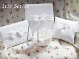 Guest Book, Pen, Ring Pillow, Flower Basket Iris Series