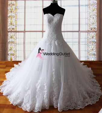 Harper strapless lace princess wedding dresses
