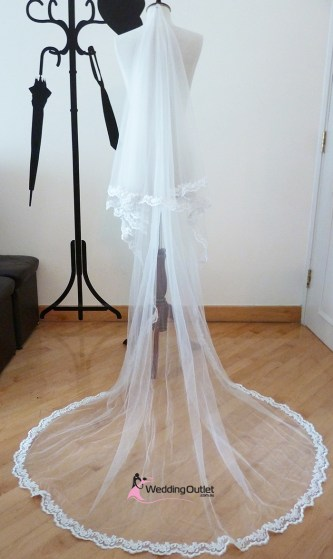 Lace Veil with beads or without beads