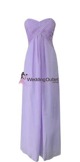 Lavender Purple Strapless Bridesmaid Dresses Style #R101