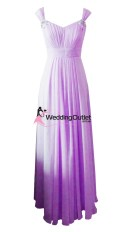 Lilac Purple Sleeved Bridesmaid Dresses Style #A1029