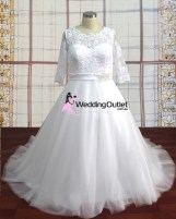 Violy Long Sleeved Lace Wedding Dress