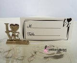LOVE Name card holders wedding bombonieres