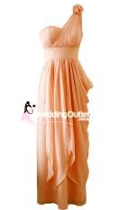 Mandarin Peach Bridesmaid Greek Style Maxi Style #C101