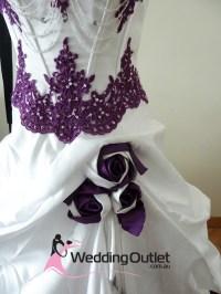 Scarlett Purple and White Wedding Dress - WeddingOutlet.com.au