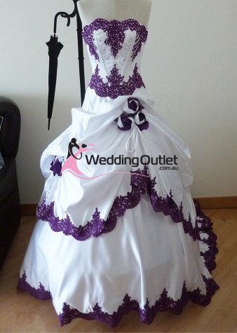 Scarlett Purple and White Wedding Dress