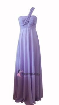 Lavender Purple Bridesmaid dress one shoulder Style #B9190