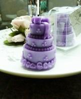 Purple Cake Candle Wedding favors