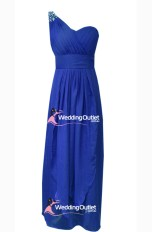 Royal Blue Maxi Bridesmaid Dresses Style #C104