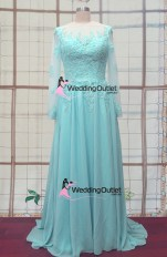 Elsa frozen tiffany blue wedding dresses