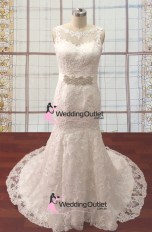 Srey boat neckline with sash wedding gown