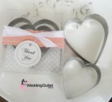 Cookie Cutters Heart Shaped Wedding Favours