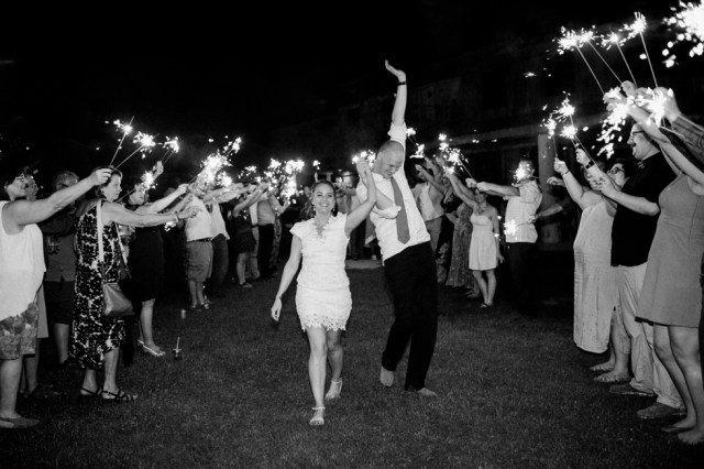 Mississippi Wedding Photographer Sparkler Exit