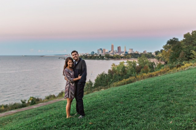Cleveland Skyline Ohio Wedding Photographer Cleveland Edgewater Park