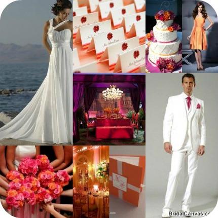 {Monday Moods} Tangerine Tango Beach Wedding – DIY Weddings Tangerine Tango Wedding