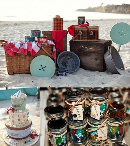 Wedding Theme Vintage Beach Camping DIY Weddings
