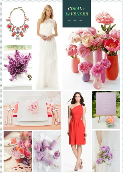 Coral + Lavender Inspiration Board via Revle