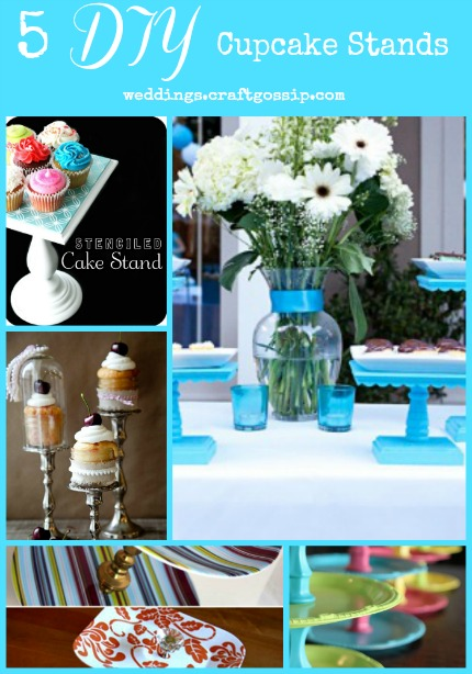 5 DIY Cupcake Stands via weddings.craftgossip.com
