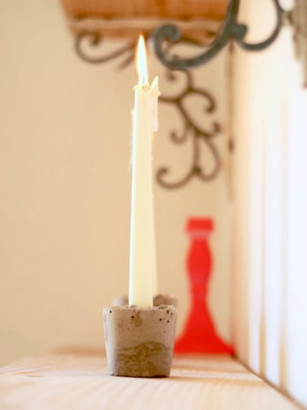 Concrete Candle Holders via Project Weddding