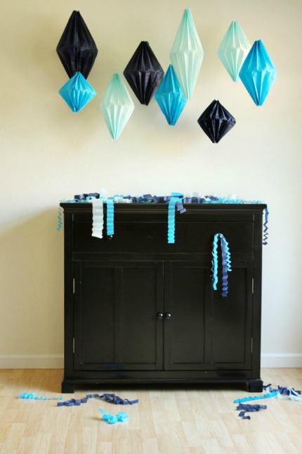 DIY Geometric Lanterns via Oh Happy Day