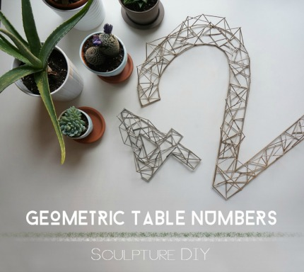 DIY Table Number Sculptures via 23 Eleven