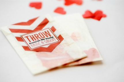 DIY Chevron Confetti Pouches via b.loved weddings