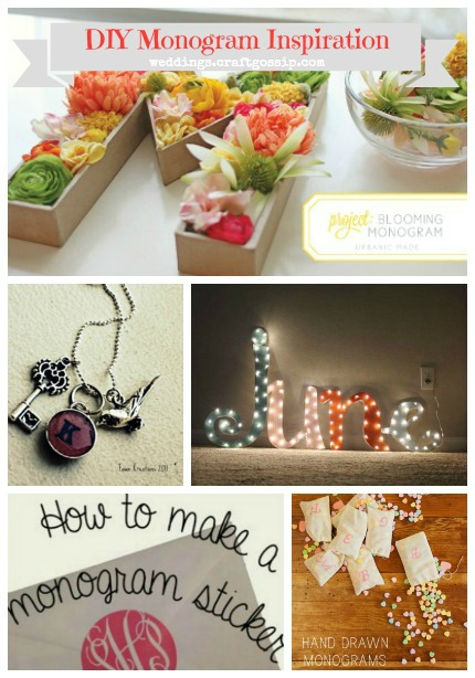 DIY Monogram Inspiration via weddings.craftgossip.com