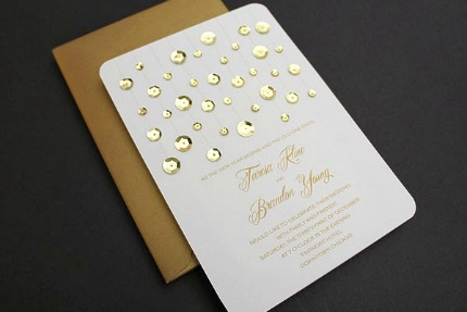 DIY Glam Gold Invitation Download & Print via Savvy Deets Bridal