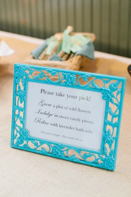 Test Tube Wedding Favors DIY Sign via Dream Green DIY and Katie Stoops
