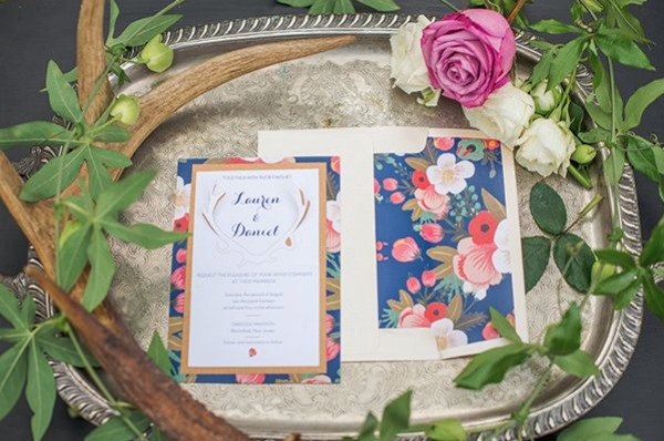 DIY 3D Invitations and Floral Envelope Liners