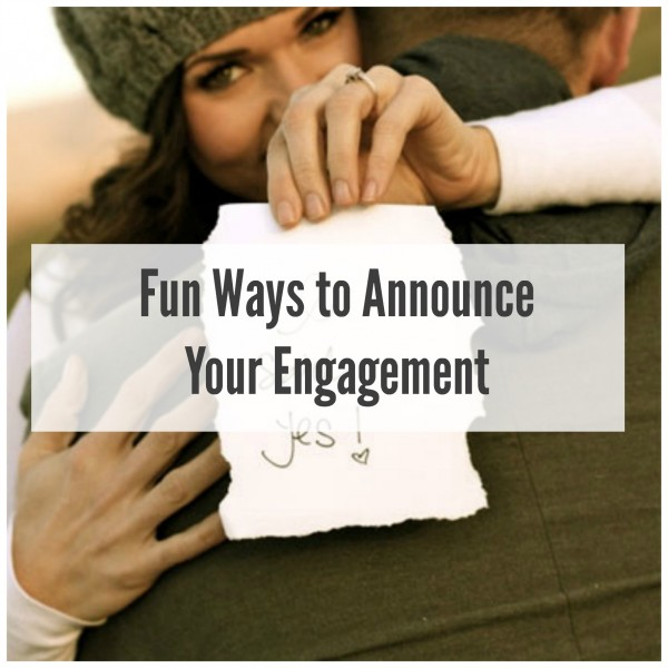 Announce Your Engagement With One Of These Fun Ideas