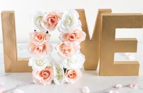 Paper Mache Floral Centerpiece Letters