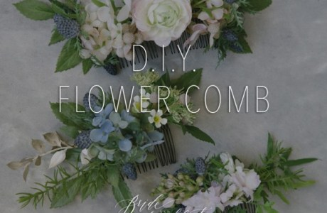 How to Make a Flower Comb