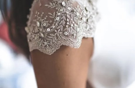 17 Lacey Cap Sleeve Wedding Gowns
